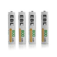 Quality 1.2 V 800mah Rechargeable Aaa Batteries , Button Top Aaa Rechargeable Cell for sale