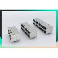 Quality Shield Multi Port Connector , 2X8 Port RJ45 Connector With 1000 Base - T Integrated Magnetics Tab Up / Down for sale