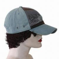 Quality Baseball Cap, Made 100% Cotton Twill, Fabric Washed for sale