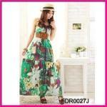 Quality 2012 Fashion Chiffon Printed Beach Dresses for Ladies (FDR0027J) for sale