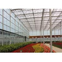 Quality 8m*4m Size Garden Glass Greenhouse Good Sealing Performance For Livestock for sale