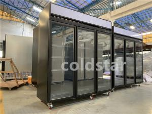 Quality Commercial 1 2 3 4 Doors Drinks Refrigeration Showcase With Digital Thermostat for sale