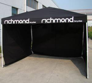 Quality Rain Proof Aluminum 3 x 3 m Folding Gazebo Tent With 3 Full Walls / Picnic Canopy Tent for sale