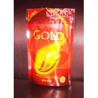 China Printed Coffee Bag Packaging / Stand Up Plastic Bags With Ziplock on sale