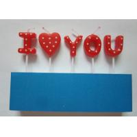 Sweet Letter Birthday Candles , White Dots Decorative Valentine'S Day Candles