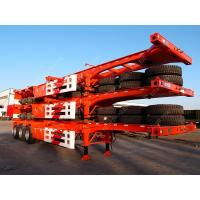 China Tri-axle 40 Feet Shipping Container Trailer Chassis With Container Lock on sale