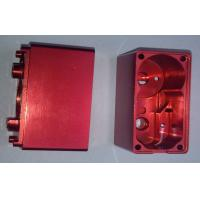 Quality Red Anodized Custom CNC Aluminum Electronic Enclosures MachinedComponents for sale