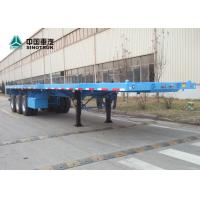 China CIMC Tri - Axle Heavy Duty Semi Trailers 40ft High Flatbed Trailer With BPW Axles on sale