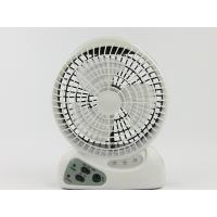 Quality 6 Inch 3 Blade Mini Rechargeable Electric Fan With Light AC / DC Operated for sale