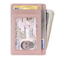 Buy Slim Minimalist Front Pocket RFID Blocking Leather Wallets for Men Women at wholesale prices
