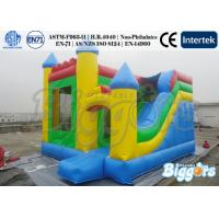 Quality Commercial Inflatable Children Slide 18oz 0.55mm PVC Tarpaulin With Bouncer for sale