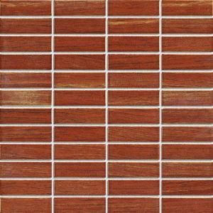 China Strip Ceramic Mosaic Tiles , Polished Porcelain Tiles For Bathroom Floor on sale