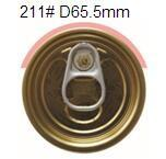 Quality 211# 65.5mm  tinplate full aperture easy open end, EOE,tin can lids for sale