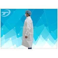 Quality Light Weight  PP SMS Medical Protective Clothing Lab Jackets Disposable Hospital Gowns for sale