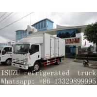 Quality hot sale ISUZU Euro4 120hp 3 ton 4x2 refrigerator cooling van for sale for sale