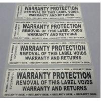 Quality Custom Printing Permanent Security Labels / Alarm Stickers Waterproof Anti Counterfeit for sale