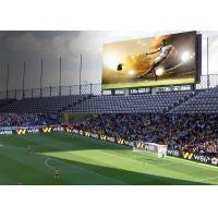 Quality IP65/IP54 Perimeter Led Screen , P10 SMD3535 Football Stadium Advertising Boards for sale
