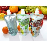 Quality FDA Approval Eco Stand up Beverage Liquid Packaging Spout Pouch Bag / Reclosable cap for sale