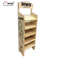 China In Retail Store POP Displays Floor Wooden Bakery Display Racks on sale