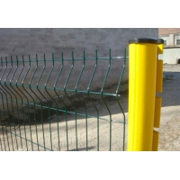 Quality 3D Curved Welded Garden Fence , L3m Decorative Welded Wire Fence Panels for sale