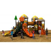 Quality TUV standard imported PVC coated deck kids amusement park outdoor playground equipment with slide for sale