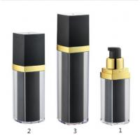 Quality Blcak 15ml 30ml 50ml Plastic Luxury Airless Bottle with Lotion Pump for sale
