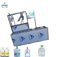 Quality SS 304 Food Grade 5 Gallon Water Bottle Filling Machine PLC Control 2200 *2000 * 2200 Mm for sale