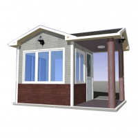Quality recycle prefabricated house, environmental protection prefabricated house, short construction prefabricated house for sale