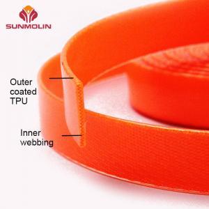Quality Orange durable  TPU coated webbing strap for sale