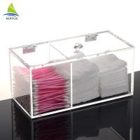 Buy cheap 1L Clear Cotton Pad And Q - Tip Organizer Cotton Acrylic Swab Holder from wholesalers
