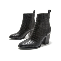 Quality YTH025 Shoes Metal Chain Children'S Boots Autumn 2021 New Fashion Stiletto High Heel Short Boots High Heels Brand Women' for sale