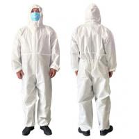 Quality Breathable Disposable Isolation Gowns , Latex Free Disposable Protective Coveralls for sale