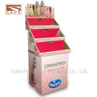 China Paperboard Trapezoid Cardboard Floor Display , POP Display Stand on sale