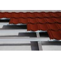 Quality Hot Rolling Glavalume Steel Colour Steel Roof Tiles Stone Coated , Rainbow Roofing Tile for sale
