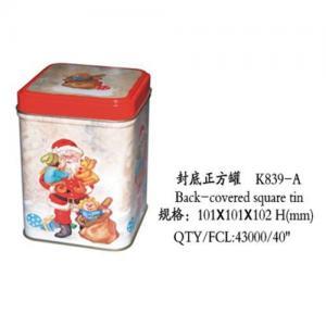 Quality Christmas tin box for sale