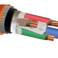 Quality IEC 60502 IEC 60228 Copper Wire Cable / Armored Electrical Power Cable for sale