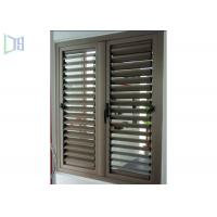Quality Fixed Ventilation Aluminium Louvre Windows With Blinds Rainproof for sale