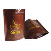 Quality Zippered Stand Up Coffee Bags with Valve for sale