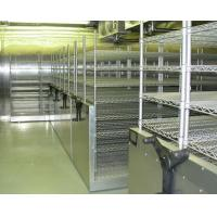 Quality Custom Made High Density Storage System , Sliding Wire Shelving With Floor Track for sale