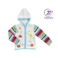 Quality Long Sleeve 100% Cotton Thick Eco - friendly Knitting Patterns Kids Sweaters With Hood for sale