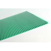 Quality Anti Fire Green Plastic Corrugated Roofing Sheets , Polycarbonate Wall Panels for sale