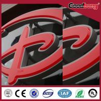 China Doubleside 3D LED steel signs/acrylic vacuum forming mirror signs/metal alphabet signs on sale
