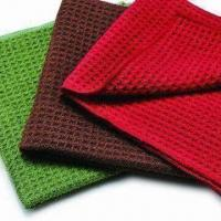 China Microfiber Waffle Cleaning Cloths, Made of 80% Polyester/20% Polyamide on sale