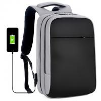 Quality Laptop Backpack Water  Travel USB Laptop BackPack for College School Business black grey laptop bags backpack for sale