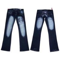 Quality Sexy Blue Queen Embroiderded Denim Jeans for sale
