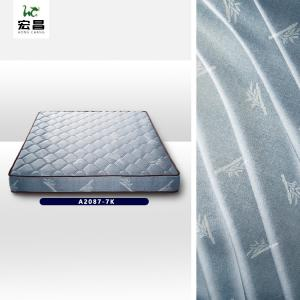 Quality 70gsm Grey Jacquard Mattress Fabric Good Chemical Resistance for sale