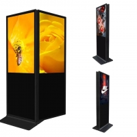 China indoor 43inch double sided standing lcd dual display doublesided lcd advertising touch screen kiosk on sale
