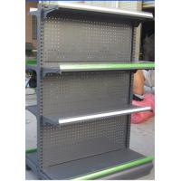 Quality White / Gray Supermarket Display Shelving 100KGS 900mm Double - sided for sale
