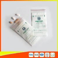 Quality LDPE Clear Medical Ziplock Pill Bags For Hospital / Drugstore Disposable for sale