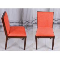 Quality Orange Wood Modern Dining Room Chairs , Fabric Covered Hotel Restaurant Chair for sale